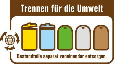 Logo du recyclage chez Edeka en Allemagne