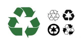symbole ou le logo du recyclage