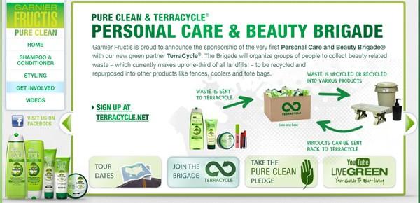 Un partenariat exclusif entre L'Oréal Garnier et TerraCycle® pour la collecte des emballages.