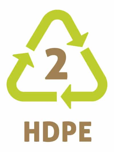 HDPE -Les symboles du recyclage plastique 2 - PolyEthylène Haute Densité