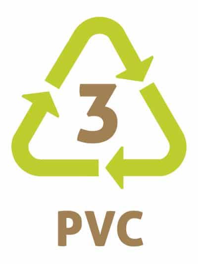 PVC -Les symboles du recyclage plastique 3 - PolyChlorure de Vinyle