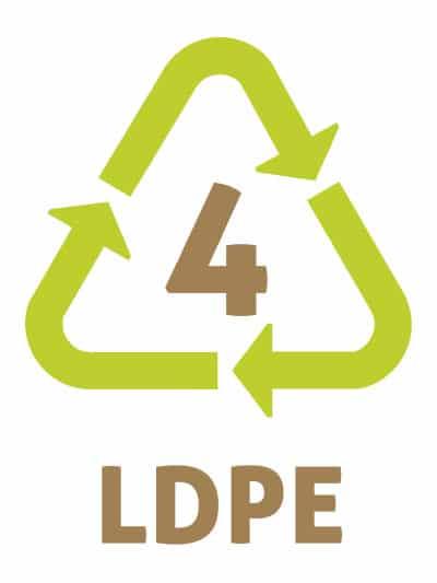 LDPE/PELD -Les symboles du recyclage plastique 4 - Polyéthylène faible densité