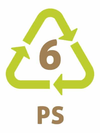 PS -Les symboles du recyclage plastique 6 - PolyStyrène Expansé