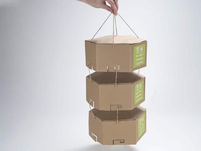 Un concept d'emballage écologique