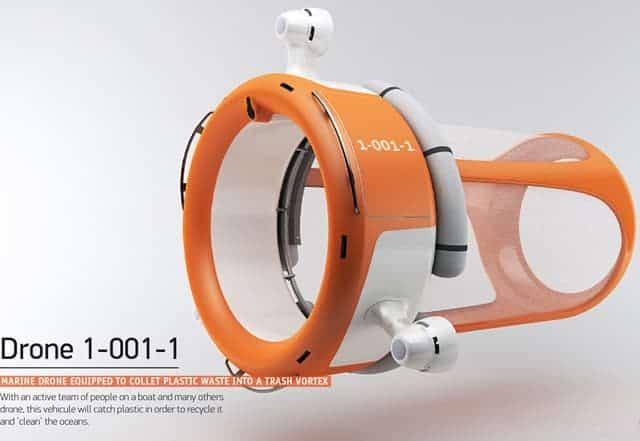 Un drone qui mange les déchets et détruit aussi la pollution en mer.