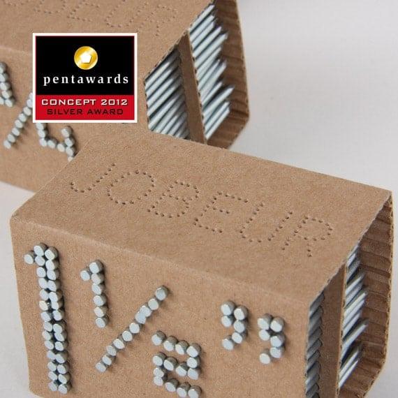 Un concept d'emballage original & écologique pour les clous