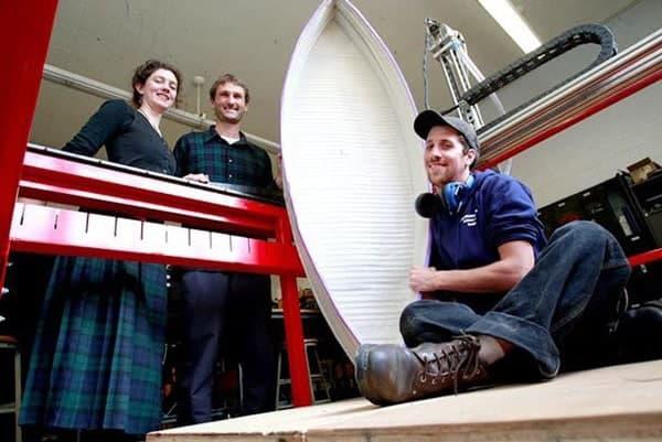 Une embarcation en plastique recyclé grâce à l'impression 3D