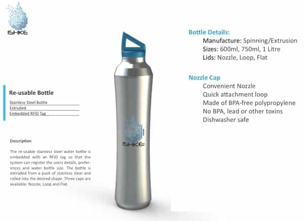Ishke, la future bouteille d'eau réutilisable