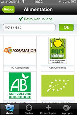 Application pour iPhone Flash Labels