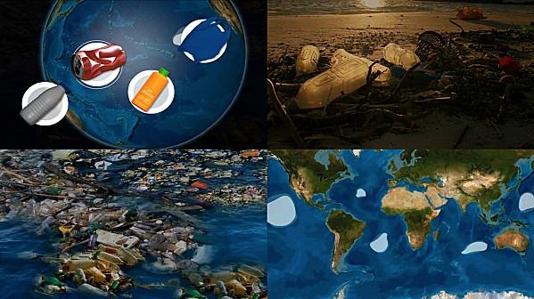 Les océans pollués par le plastique