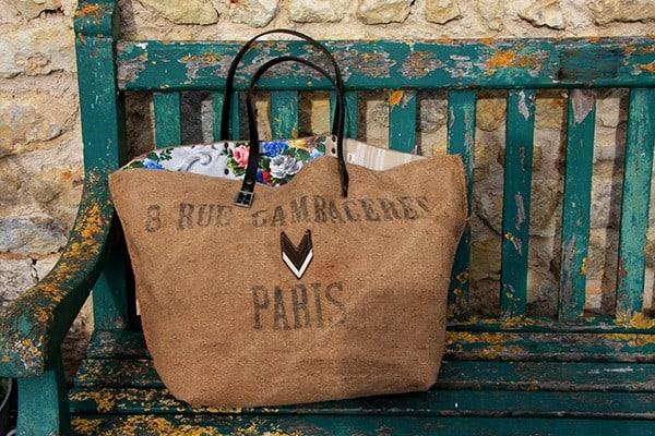 De jolis sacs écologiques fabriqués à partir de tissus anciens et vintage