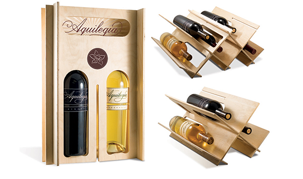 une pierre deux coups avec cet emballage pour bouteilles de vin l 39 emballage cologique. Black Bedroom Furniture Sets. Home Design Ideas