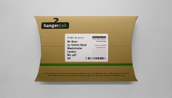 L'emballage Hangerpak : quand un emballage se recycle en cintre