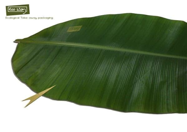 Emballage naturel en feuille de bananier