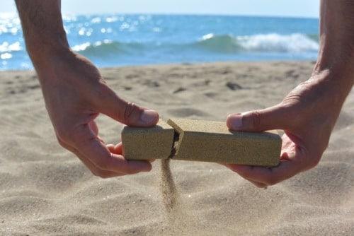 Sand made, l'emballage de sable