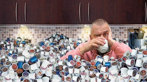 Les déchets produits par les capsules à café.