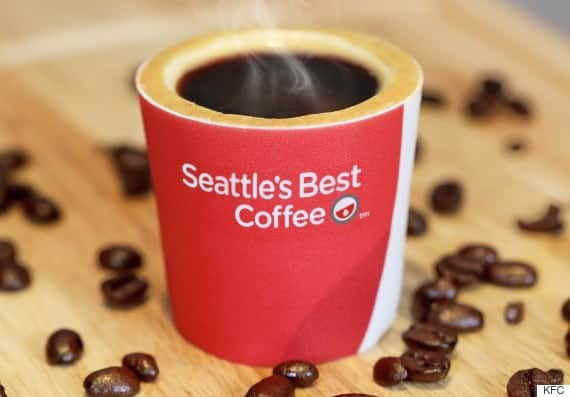 Tasses à café comestibles par KFC
