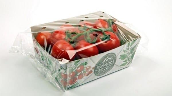 Carton fabriqué à base de tomates