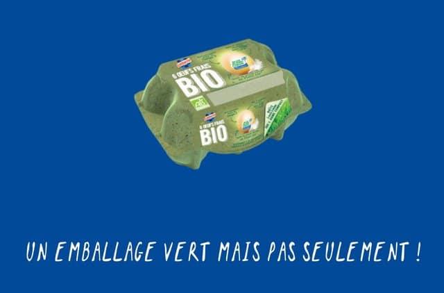 boîte 100 % compostable et biodégradable
