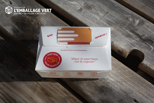 Take away, vente à emporter : une profusion d'emballages jetables type doggy bag