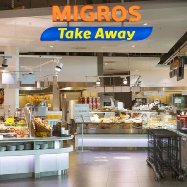 Les restaurants et Take Away Migros : des contenants réutilisables