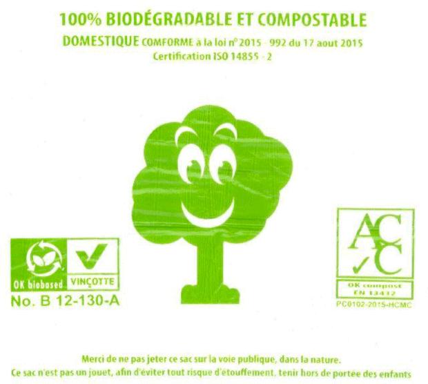 De faux sacs biosourcés et compostables