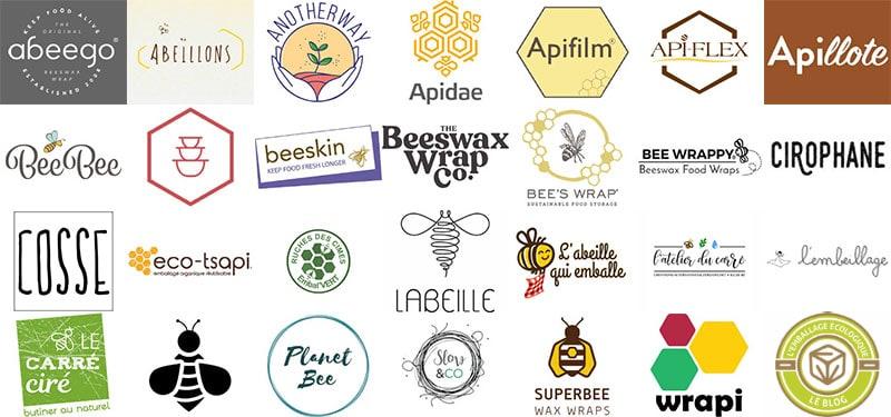 Tableau comparatif des différentes marques de bee wrap.