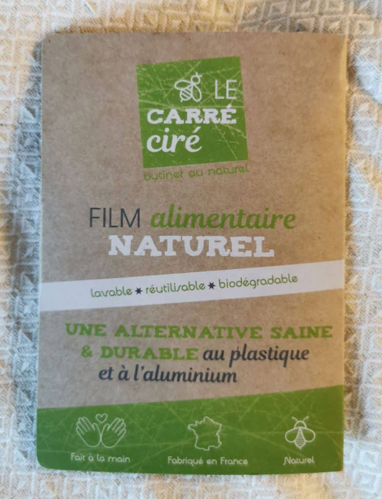 "Film alimentaire naturel ""Le carré ciré"" - Recto"