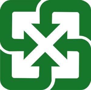 Logo du recyclage à Taïwan