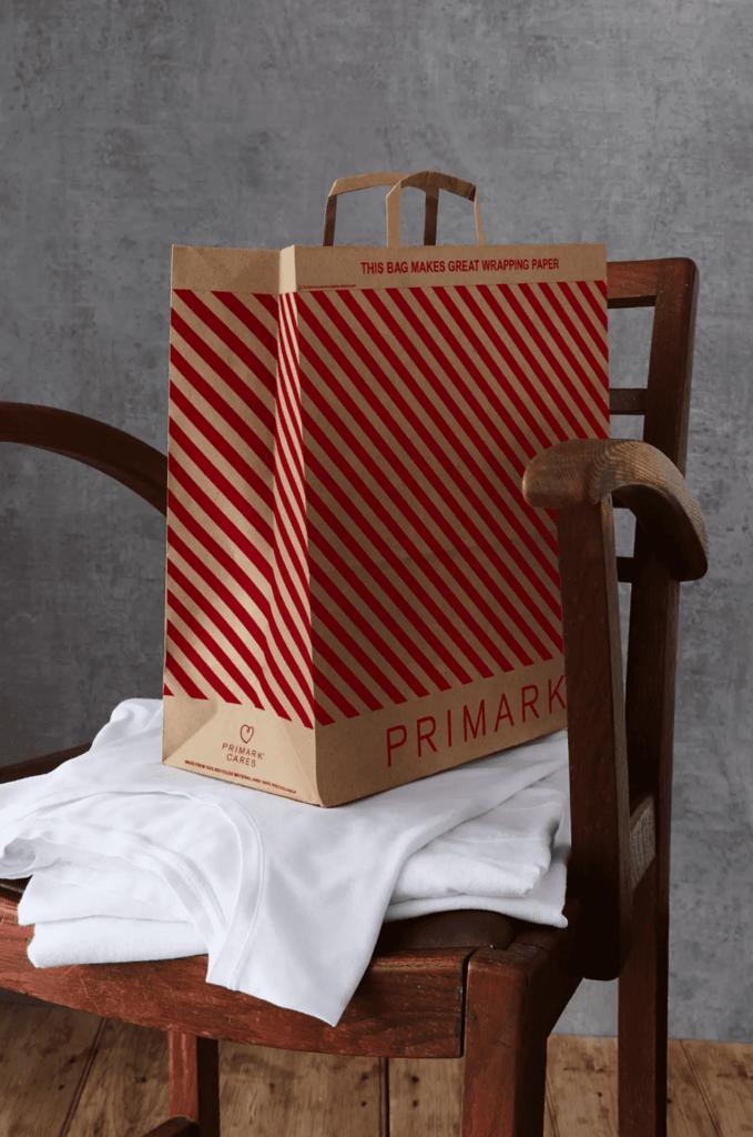 Sac réutilisable en papier de chez Primark