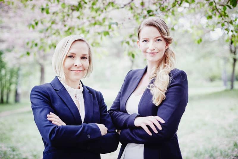 Les fondatrices de Sulapac : Suvi Haimi et Laura Tirkkonen-Rajasalo