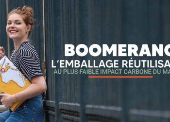 Boomerang, l'emballage réutilisable upcyclé