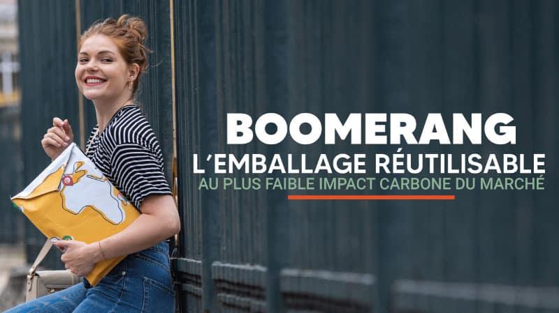 La pochette réutilisable Boomerang