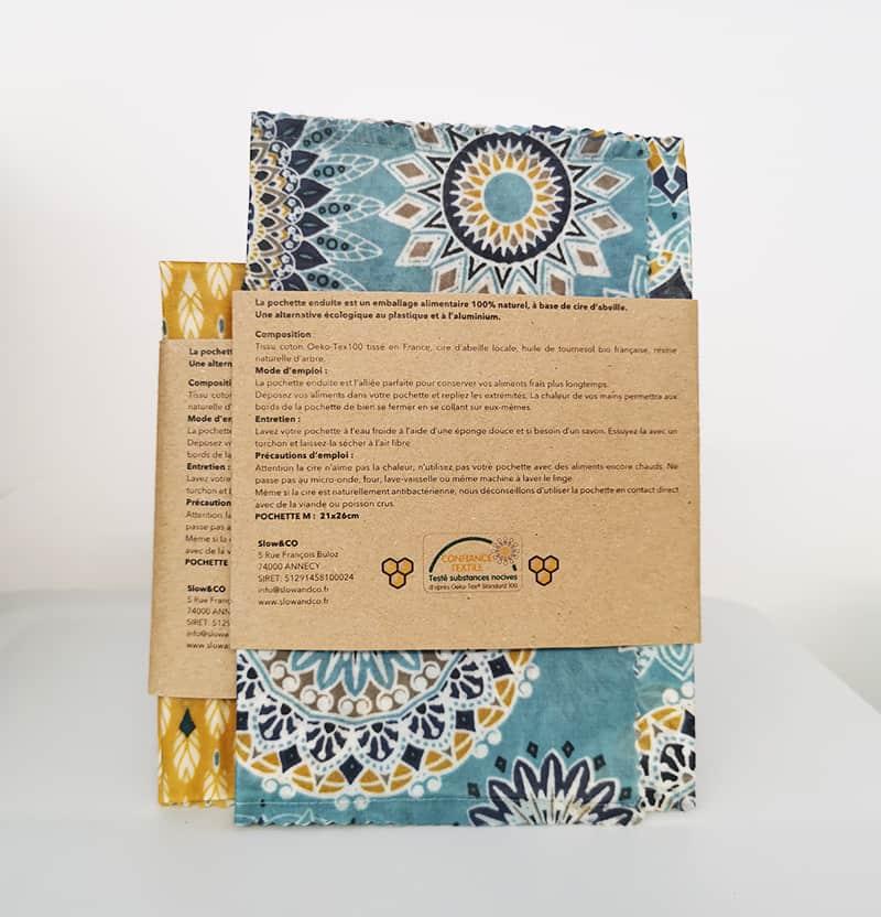 Pochette réutilisable enduite de Slow & Co - Verso