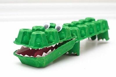 Boîte à œufs réutilisable pour les enfants - Crocodile
